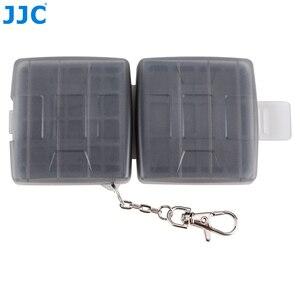 Image 2 - JJC SD CF TF SIM بطاقة نانو SIM كاميرا مقاومة للماء بطاقة الذاكرة صندوق تخزين صغير الحجم