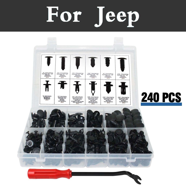 240pcs font b Car b font Styling Push Retainer Kit Clip Panel Body Assortment Set font