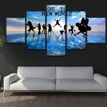 5 Piece Anime One Character Shadow Poster Wall Art Home Decorative Picture Modern Artwork Top-Rated Canvas Print Painting