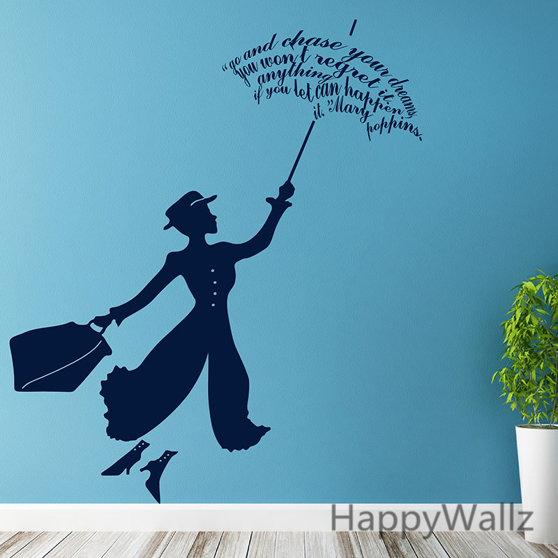 Aliexpress Com Buy Mary Poppins Wall Sticker The Movie