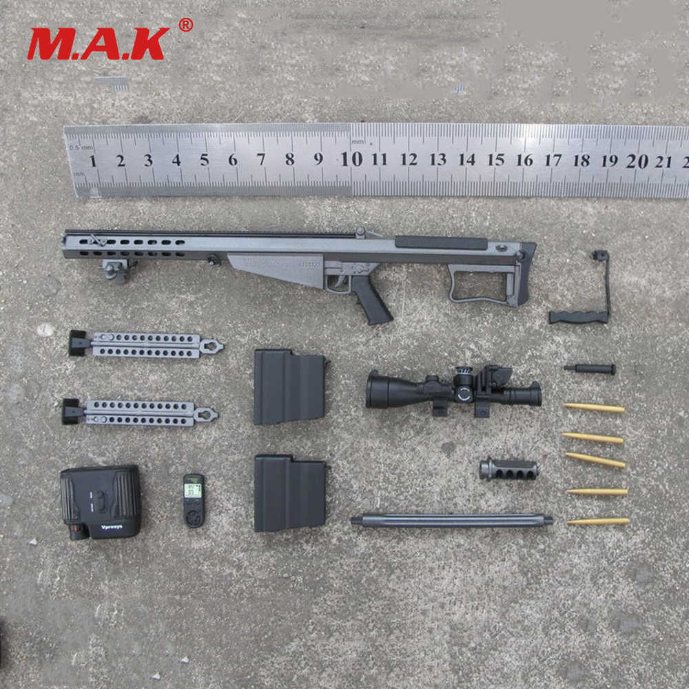 1/6 Scale Acessories Soldier Weapon Model Barrett M107A1 SASR Sniping Rifle  for 12 inches Action Figure