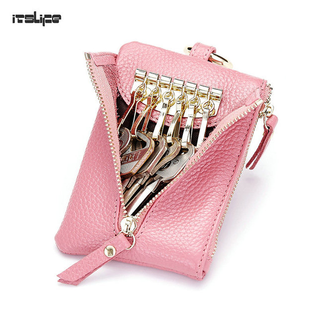 1a2ceab8dbadce New Arrival Unisex Genuine Leather Car Key wallet six hooks key holder  Leather women coin purse