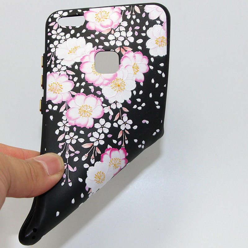 3D Relief flower silicone huawei P10 lite (45)