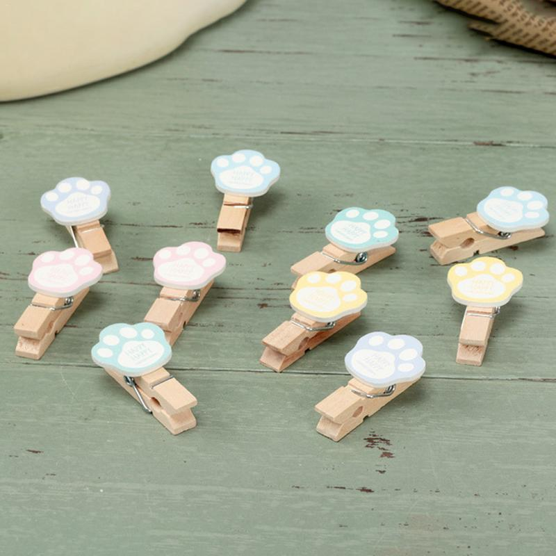 Image 5 - INS Color Hemp Rope Wooden Clip Wedding Fashion Wood Clip Cute Photo Wall Clip Message Notes DIY Photo Wall Craft Decoration-in Photo Albums from Home & Garden
