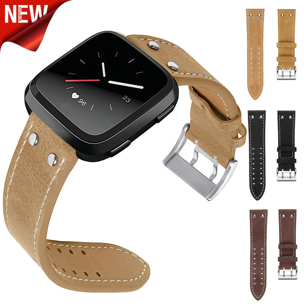 New Luxury Leather Band Bracelet Watch Band For Fitbit Versa Replacement Smartwatch Sporting Goods Accessories