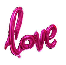 1pcs/set 32inch Love Letter Foil Baloon Champagne Love Balloon Wedding Party Decoration Valentines Day Gift Marriage Decor