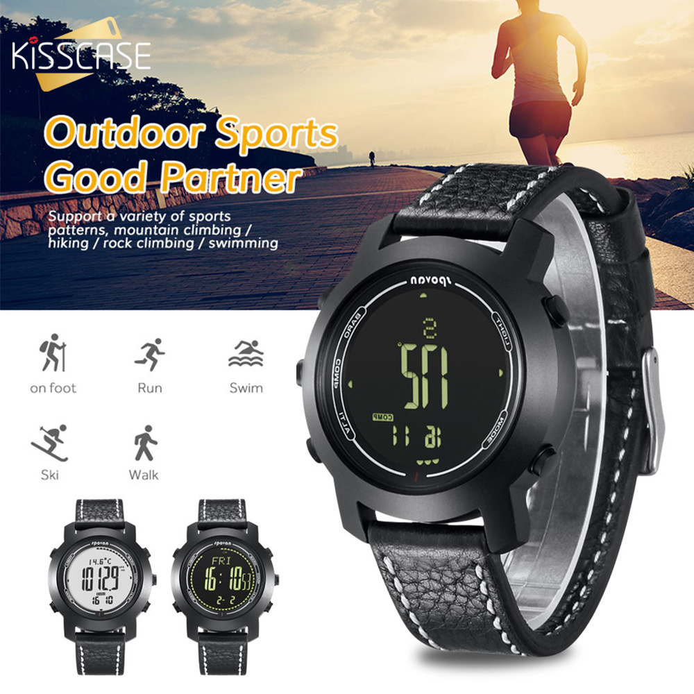 KISSCASE Multifunctional Outdoor Smartwatch Watch for Weather Forecast Intelligent Monitoring Pressure Temperature Smart Watch