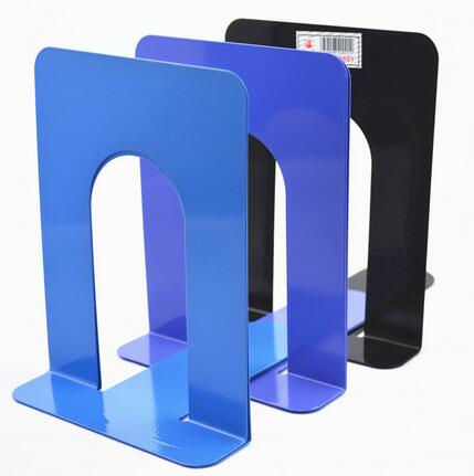 Wholesale Cheapest 2 x Durable Heavy Duty Metal Book End Shelf Bookend Holder Save Space Office School Stationery Student Helper