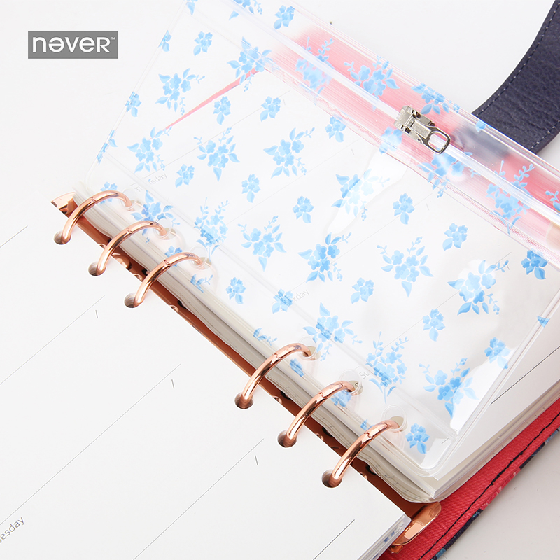 NEVER Planner Accessories zipper Pocket storage Bag PVC File Products for Filofax Spiral Notebook Office Korean stationery store shelterlogic 15577 store it canopy rolling storage bag