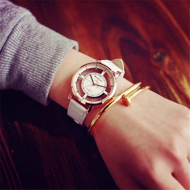 Watch Neutral Fashion Personality Simple Fashion Unique Hollow Watch Luxury Unique Stylish Double Hollow Elegant Casual Wristw 4