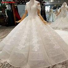 Luxury Big Train Vintage Off Shoulder Gowns Wedding Dress
