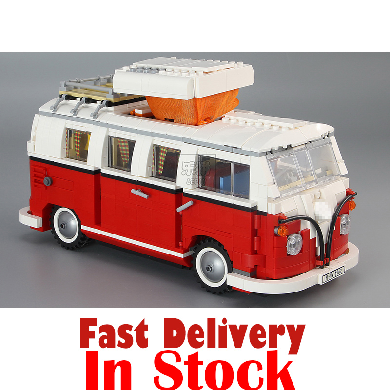 LEPIN 21001 1354Pcs Technic Series T1 Camper Van Model Building Kits Set Bricks Blocks Toys Compatible with 10220 Creator telecool led light building blocks toy only light set for creator series the t1 camper van model lepin 21001 and brand 10220