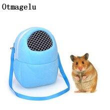 Carriers-Bags Animal-Case Hamster Travel Small Pet Net Yarn Pet-Shoulder-Bag Safe Caves