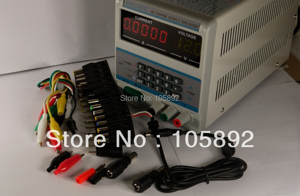 Free shipping 305BF 5Ps mA Display 220V/110V Lab Programmable DC Power Supply 30V 5A with 39pcs Laptop Repair DC Jack цена 2017