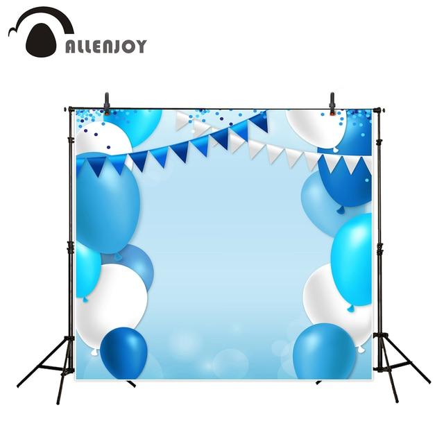 Allenjoy 사진 배경 파란색 점 플래그 풍선 파티 생일 photobooth 사진 스튜디오 신생아 원래 디자인