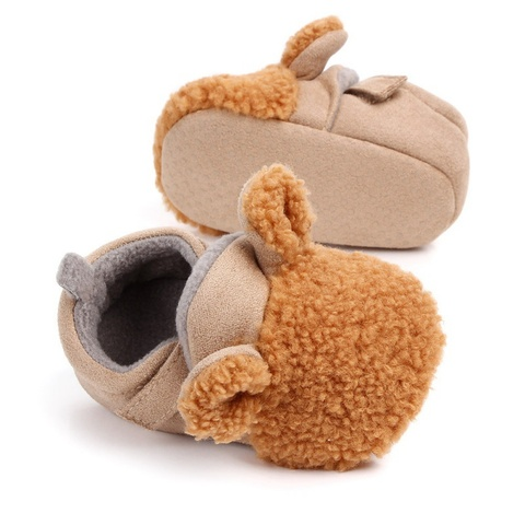 Autumn Winter Baby Shoes Coral Velvet Cartoon Baby Girl Shoes Home First Walkers Fashion Princess Baby Boys Girls Shoes 0-12M Lahore