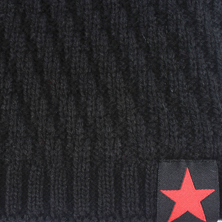 398c637e645d2 Fashion Red Star Mark Men Winter Knitted Skullie Beanie Hats Cap Casual  Solid Warm Elastic Beanie Hat Type JY03 Retail Wholesale-in Skullies    Beanies from ...