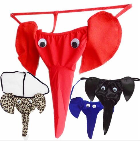 1PCS Men's Sexy Mini Brief Underpants Elephant Thongs Underwear Comfy Bikini Classic Briefs Male Panties Lover Gift