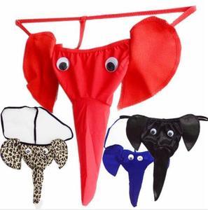 Мужские Пикантные мини трусы, 1 шт., Трусы-танга в виде слона, удобное нижнее белье, Классическое нижнее белье, подарок для любимого человека