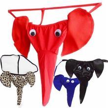 1PCS Men's Sexy Mini Brief Underpants Elephant Thongs Underw