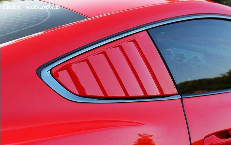 Cervini Style PP Painted Car PFT Quarter Window Louvers Air Vent Outlet Diffuser Shutter Covers