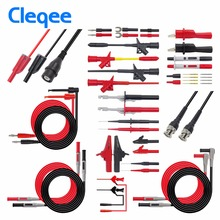 Cleqee P1600C/D/E/F Pluggable Multimeter Probe Probes Test Lead Kit Kits Automotive Probe Set Ic test Haak Compatibel Met Fluke