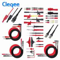 Cleqee P1600C/D/E/F Pluggable Multimeter probe probes test lead kit kits automotive probe set IC Test hook Compatible with Fluke