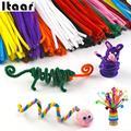 100 pçs/set Chenille Hastes Varas Brinquedos Criativos Crianças do jardim de Infância DIY Artesanato