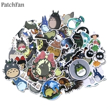 Patchfan 50pcs Tonari no Totoro Pvc Waterproof Cartoon DIY scrapbooking album car Luggage Phone PC Wall Guitar Stickers A1386