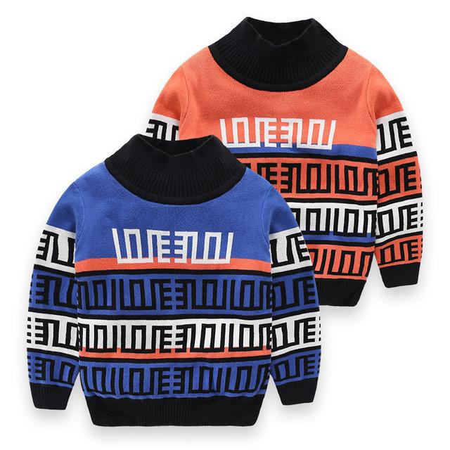 Venta caliente Jumper Suéter Niños Suéter de Invierno de Cuello Alto Suéteres de Lana de Los Niños Ropa de Niños de Alta Calidad de Punto Jersey