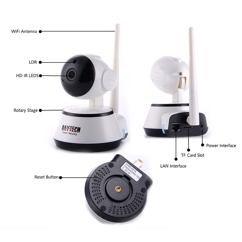 security ip camera wireless wifi camera surveillance 720p night shoppingbits. Black Bedroom Furniture Sets. Home Design Ideas