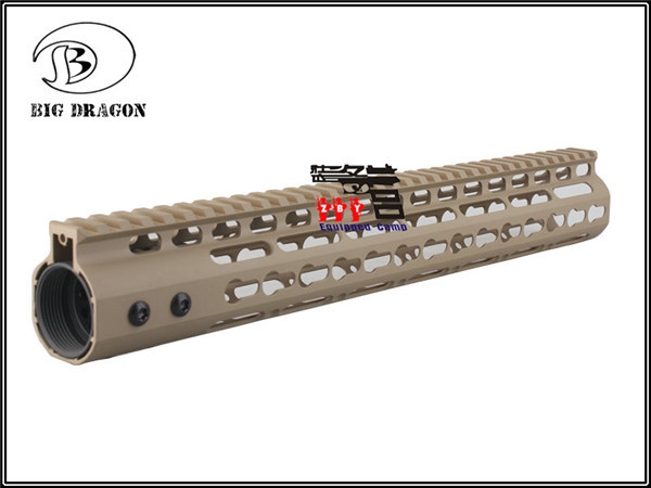 High Quality Lightest 13 5 inch TAN Handguard One piece Top Rail System For  AR 15 M4 M16 Free shipping-in Scope Mounts & Accessories from Sports &