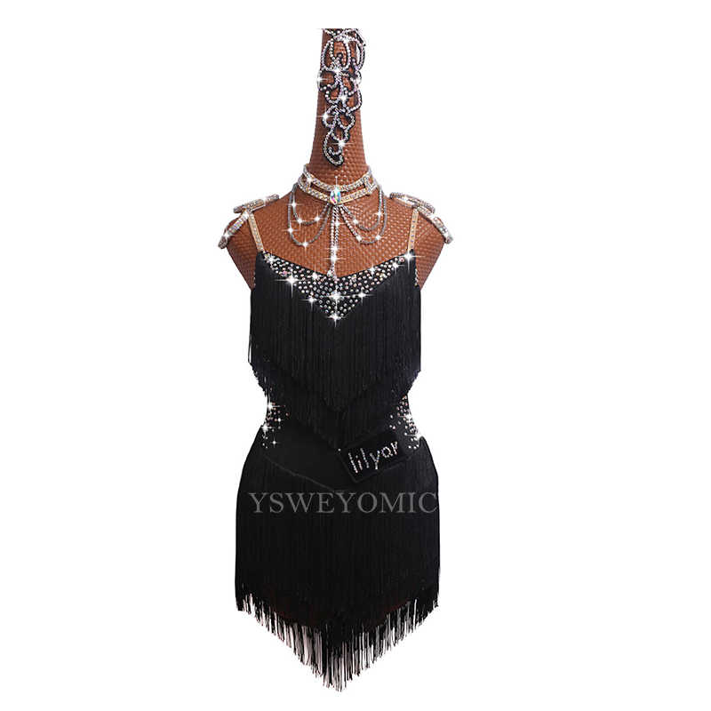 Латиноамериканское платье для девушек Черные, белые, красные пикантные платье для сальсы юбка под заказ плюс размер платье для латиноамериканских танцев платье для танцев для Для женщин