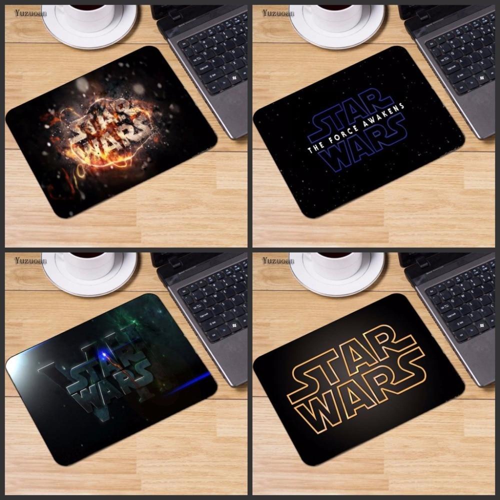 Yuzuoan настроить Star Wars логотип ноутбука коврик Размеры для 18*22 см и 25X29 см игр коврики без оверлок края Размеры