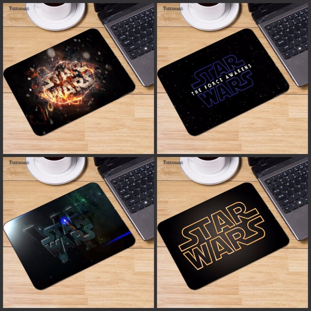 Yuzuoan Customize Star Wars Logo Laptop Computer Mousepad Size for 18*22cm And 25X29cm Gaming Mousepads No Overlock Edge Size