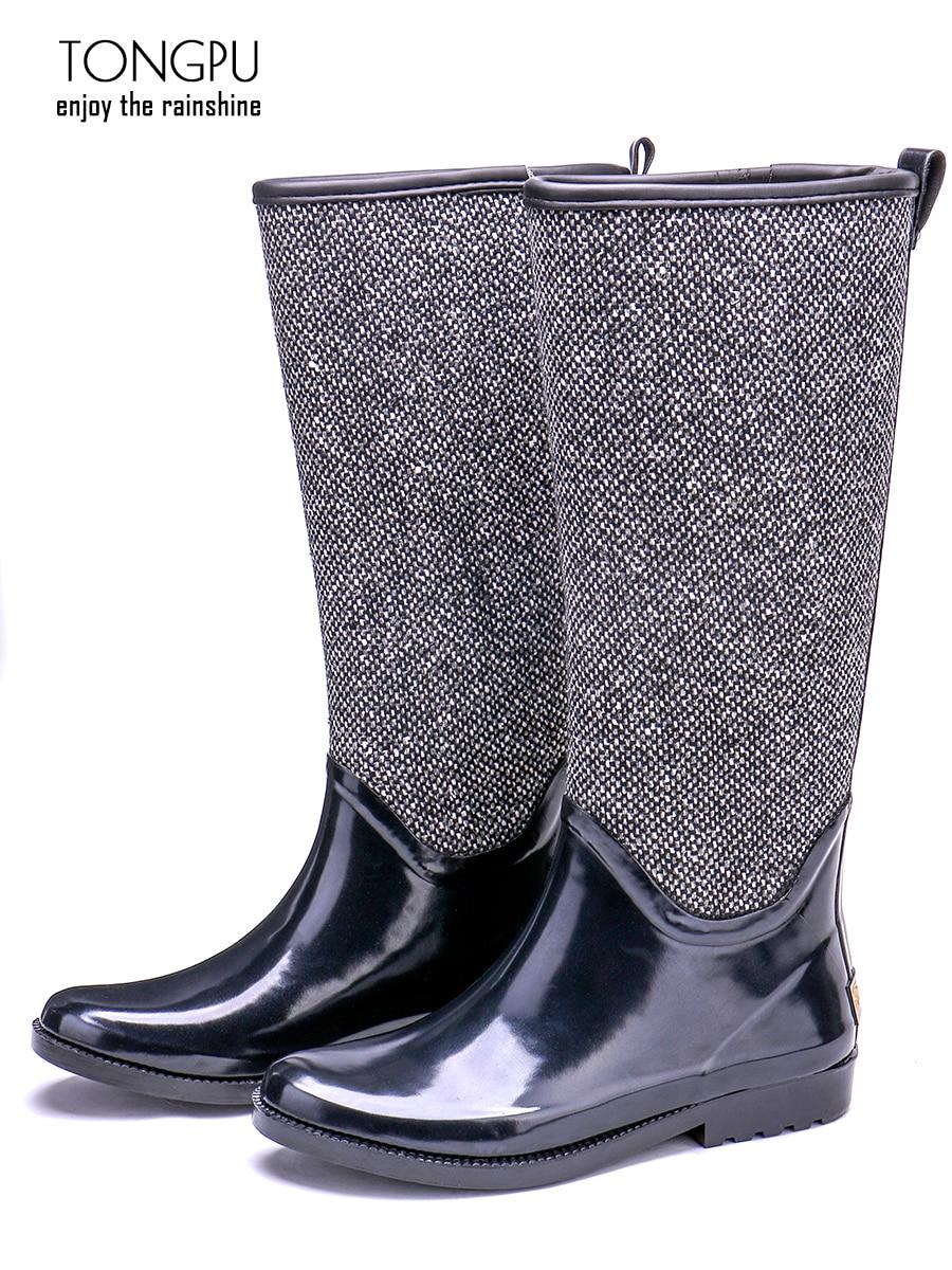 TONGPU New Arrival Classical Design Natural Rubber Waterproof Rain Boots