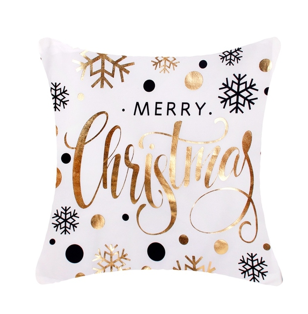 FENGRISE 45x45cm pościel bawełniana wesołych świąt pokrywa poduszki dekoracje świąteczne dla domu szczęśliwego nowego roku Decor 2019 Navidad prezent na boże narodzenie tanie i dobre opinie Z W1719 Cotton Linen Christmas decorations for sofa Noel Natal Christmas Ornament Christmas Party Decor Christmas Home Decoration