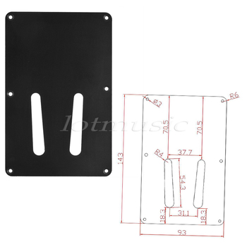 Electrical Plate Covers | 8Pcs Back Guitar Tremolo Cavity Cover Plate Fit For Electric Guitsr Replacement