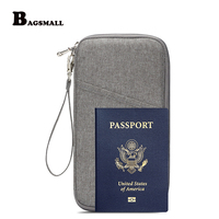 BAGSMALL Waterproof Nylon Passport Wallet Travel Pouch Bags For ID Cards Ticket Holder Purse Credit Card
