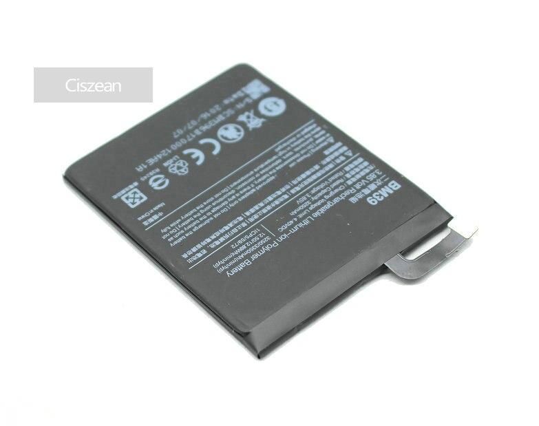 Mobile Phone Batteries Diplomatic Ciszean High Capacity 3250mah Mobile Smart Cell Phone Battery For Xiaomi Xiao Mi 6 Mi6 Miui M6 Bm39 Free Shipping