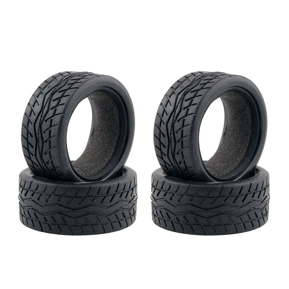 4PCS High Quality Black Rubber Tyre for 1:10 4WD RC On Road Touring Car Traxxas Tamiya HSP HPI Kyosho 1/10 Tires Parts 4pcs high quality 1 10 rally car wheel rim and tire for 1 10 tamiya hsp hpi kyosho 4wd rc on road car