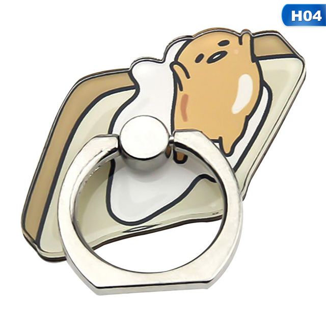 Universal Finger Ring  cute mobile phone holder Stand Rings Cute Cartoon Eggs Pattern Smartphone Rings Tablet Support