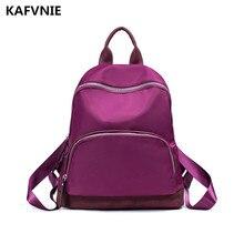 Kafvnie Для женщин Рюкзаки нейлон Водонепроницаемый Повседневное ноутбук Bagpack женский рюкзак школы для девочки-подростка feminina