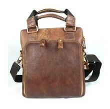 100% Guaranteed First Layer Real Genuine Leather Men Messenger Bags Cowhide Shoulder Bag Men Travel Bags Casual Handbag #VPB8118