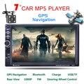7 pulgadas 2 Din Radio Del Coche de HD MP4 Jugador Digital De Pantalla táctil Bluetooth USB/TF/FM DVR/Entrada Aux Soporte Manos Libres de Carga Del Coche GPS