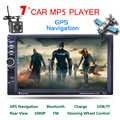 Lecteur MP4 autoradio 7 pouces 2 Din HD avec écran tactile numérique Bluetooth USB/TF/FM DVR/entrée Aux prise en Charge mains libres voiture GPS