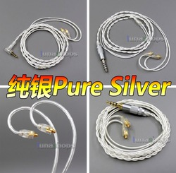 LN005950 4.4mm 3.5mm 2.5mm balanced Pure Silver Shielding Earphone Cable For MMCX Plug Shure se535 se846 se215 Earphone cable