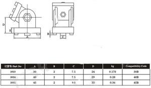 Image 4 - 2020/3030/4040/4545 Zinc alloy living hinge Aluminum profile fittings Right angle Zinc Alloy Flexible Pivot Joint connector