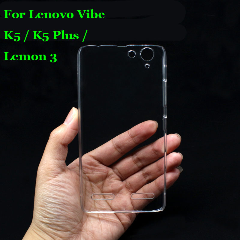 For Lenovo K5  K5+ Hard PC Case Ultra Thin Clear Hard Plastic Cover Protective Skin For Lenovo Vibe K5  K5 Plus  Lemon 3 5.0