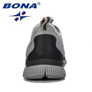 Image 2 - Мужские воздухопроницаемые кроссовки BONA, серые повседневные сетчатые Мокасины, удобная обувь для баскетбола, 2019